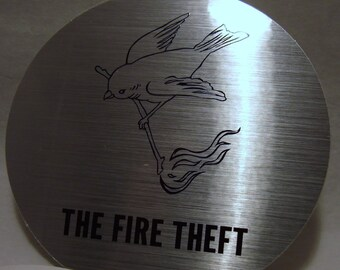 Rare The Fire Theft Foo Fighters Sticker Sunny Day Real Estate Metallic Sticker & Postcard