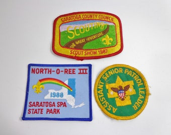 Lot of Vintage Boy Scouts Embroidered Patches 1970s 80s Collectible Embroidered Acheivement Event Memorabilia Souvenirs Retro Accessories
