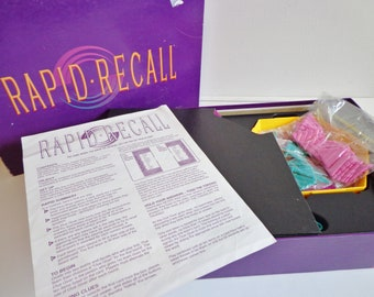 Vintage 1993 Rapid Recall Board Game Fun Retro Game Night by Western Publishing Complete Collectible 90s Prop Toy Upcycle