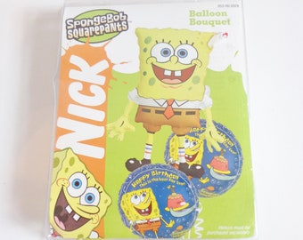 Nickelodeon Spongebob Squarepants Giant Collectible Balloon New in Package Retro 90s Kids Cartoon Character Shaped Party Supplies Decoration
