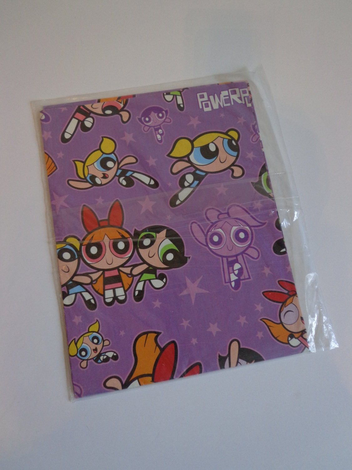 90s Powerpuff Girls Cartoon Wrapping Paper By American Greetings