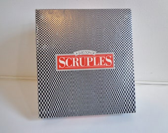 Vintage 1986 Collectible Scruples Board Game Fun Retro Game Night Adult Conversation Card Game Complete Collectible 80s 90s Prop Toy Upcycle