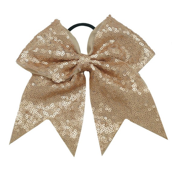 """Chixx Cheer Hair Bows-Sequin Dance Competition Bows 7/"""" x 7/"""" Shipped from U.S.A"""