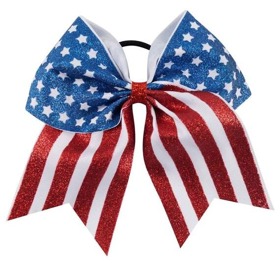 """Chixx Cheer Hair Bows-Softball Cheer Dance Competition Bows 7/"""" x 7/"""" USA"""