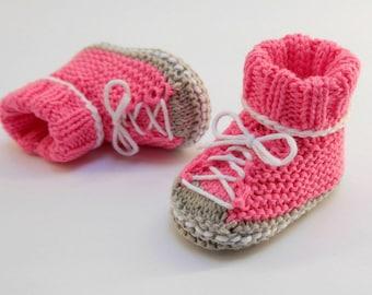 Anleitung Babyschuhe Stricken Etsy