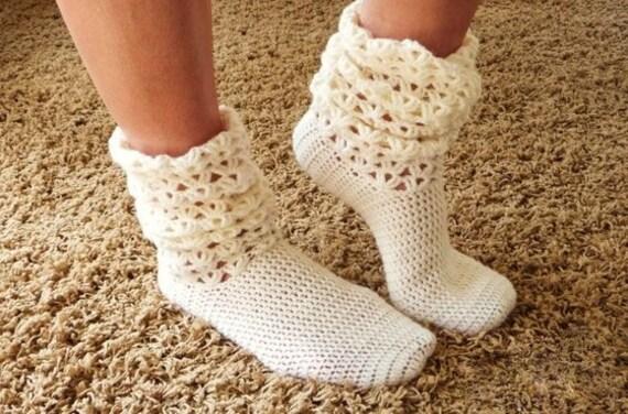 Häkelanleitung Socken Mit Ferse Häkeln Socke No62 Etsy