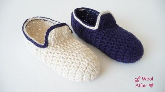 Häkelanleitung Hausschuhe häkeln Loafers für Kids No.64 | Etsy