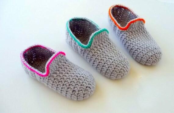 Häkelanleitung Hausschuhe Häkeln Loafers Für Erwachsene Etsy