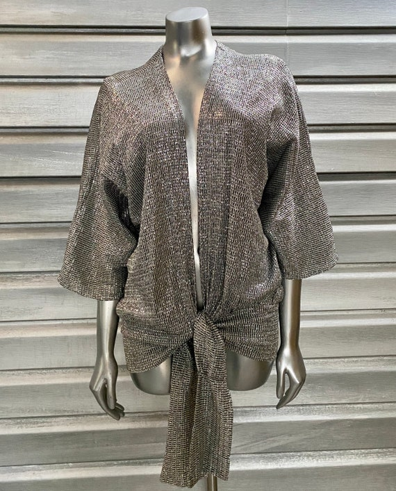 Vintage Metallic Silver Lume Disco Top