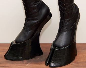 Succubus boots with cloven hooves / EU Size 39