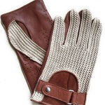 Men's Leather Driving Gloves  Gift For Men Italian Leather Knitted 100% Cotton  Nappa Leather Gloves/ leather gloves/ Valentine's day gift