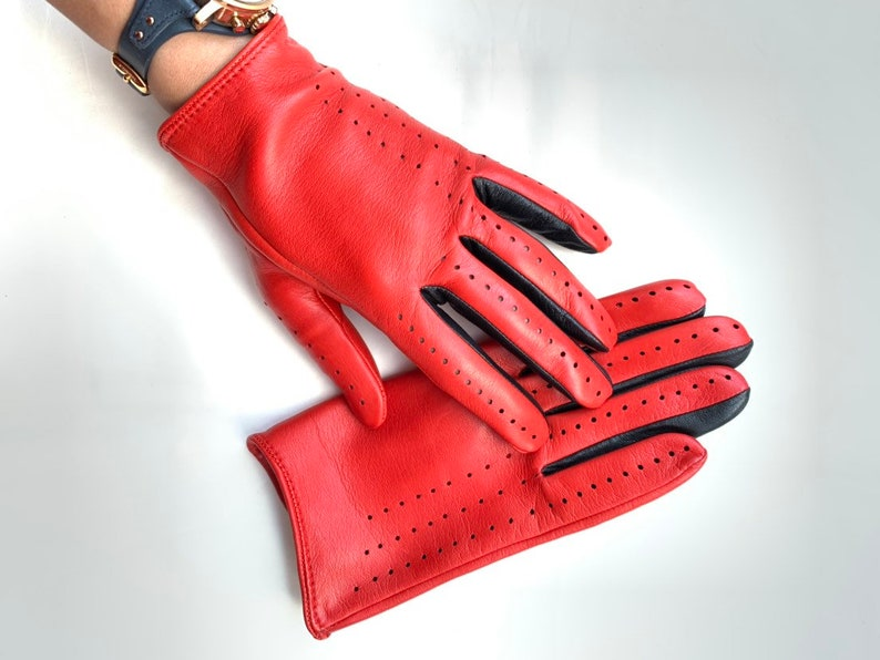 Ferrari Red driving gloves/ leather gloves for ladies/ fashion image 0