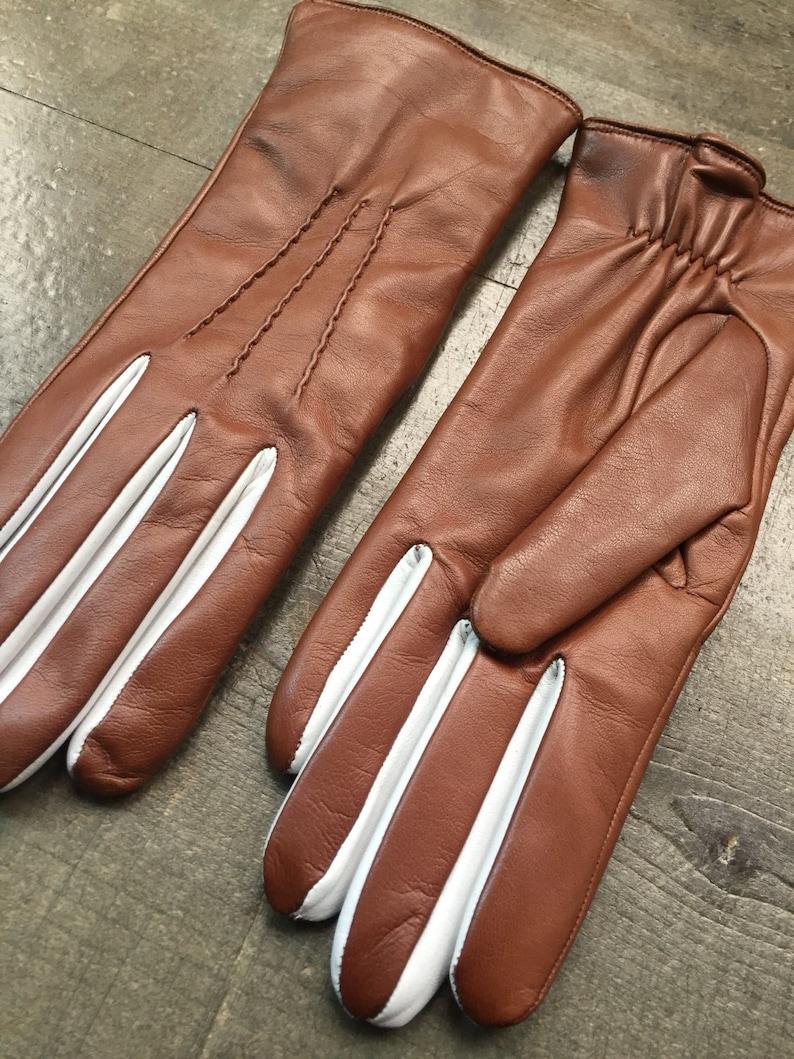 71aa46548d424 Leder Handschuhe für Damen / Handschuhe-Leder Handschuhe-Elegat  Handschuhe-Geschenk für sie / braun/Weihnachten Geschenk/Damen  Handschuhe/Handschuhe ...