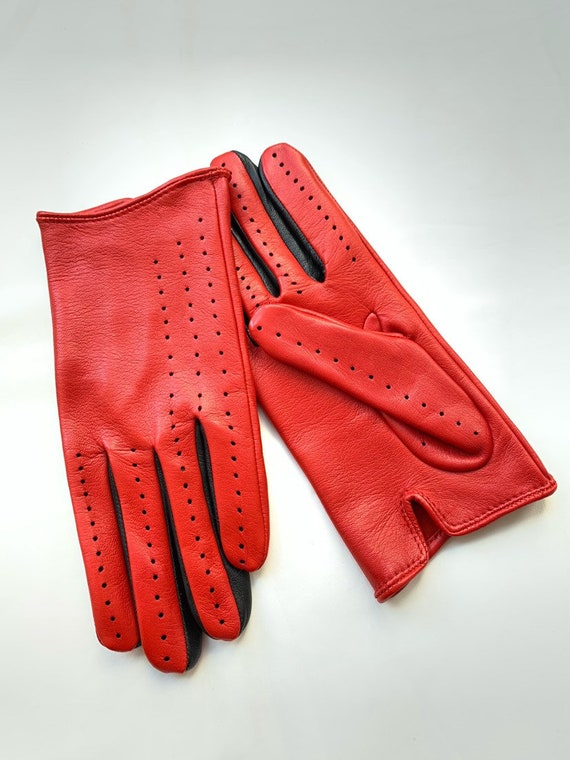 Ferrari Red Driving Gloves Leather Gloves For Ladies Fashion Etsy