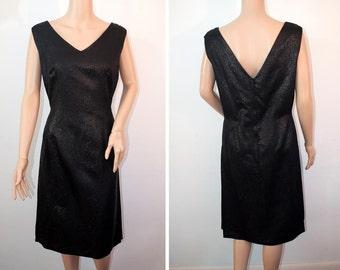 91035e17b40 Vintage 1960s V neck sheath dress side pleats with hip length jacket cocktail  dress