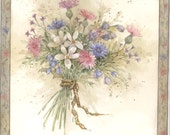 A Bunch of Flowers I 8x8 lithograph