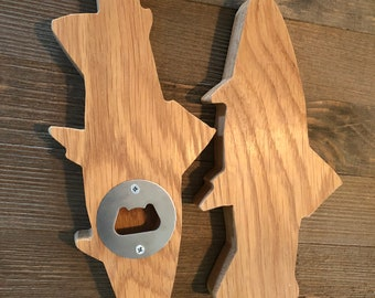 Bottle opener, hand held bottle opener in the shape of a trout, for the fly fisherman in your life, beer opener gift for him