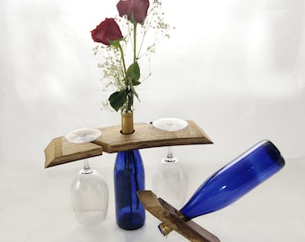 Two wine glass holder