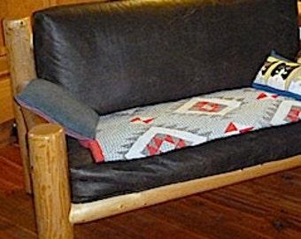 Log furniture Rustic Snow Creek Love Seat
