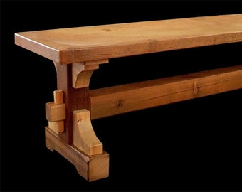 Reclaimed Wood Crosscut Trestle Bench *FREIGHT NOT INCLUDED*