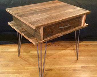 Reclaimed Wood Nightstand *FREIGHT NOT INCLUDED*