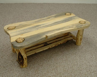 Rustic log furniture Mountain Hewn Contour Coffee Table *FREIGHT NOT INCLUDED*