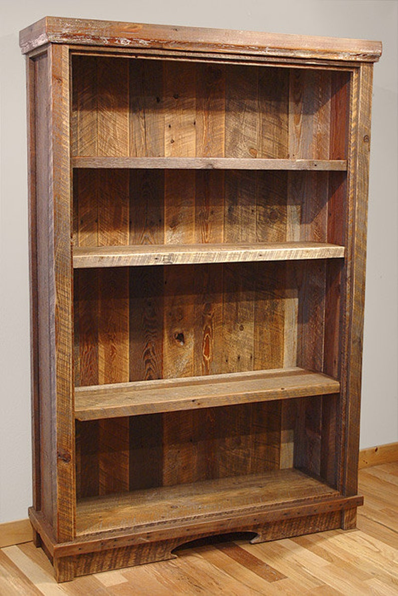 Reclaimed barn wood Rustic Heritage Bookcase FREIGHT NOT image 0