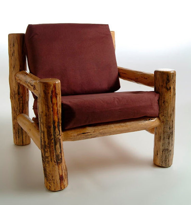 Rustic Log Furniture Mountain Hewn Easy Chair Etsy