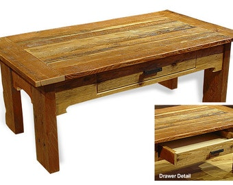 Reclaimed barn wood Rustic Whip Saw Coffee Table *FREIGHT NOT INCLUDED*
