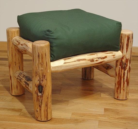 Stupendous Rustic Log Furniture Mountain Hewn Ottoman Dailytribune Chair Design For Home Dailytribuneorg