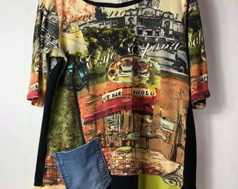 73fee0e0106 Up cycled Bright and Colorful Women s T shirt Tunic