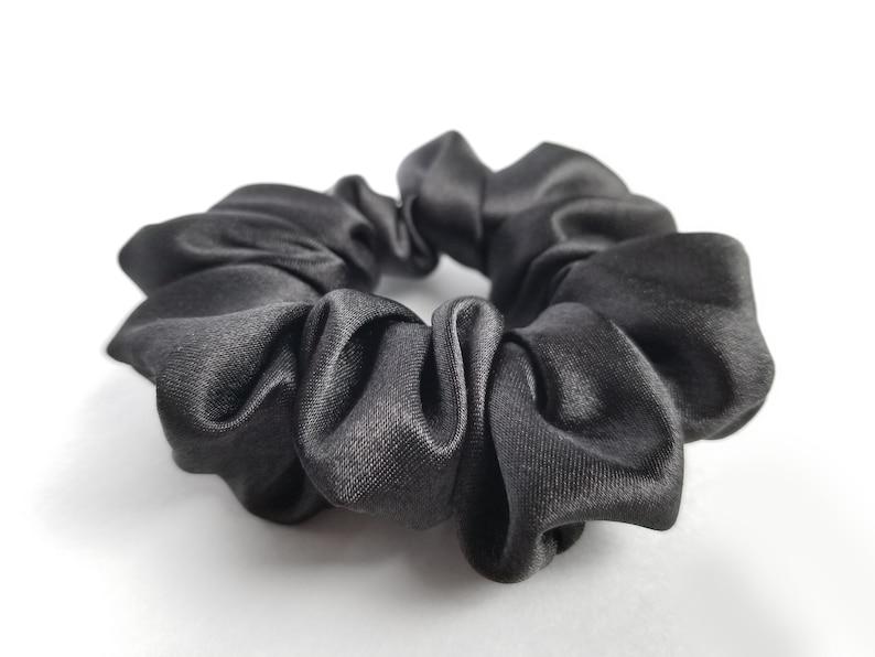 Standard Size Scrunchie  Scrunchy BLACK Satin Scrunchie