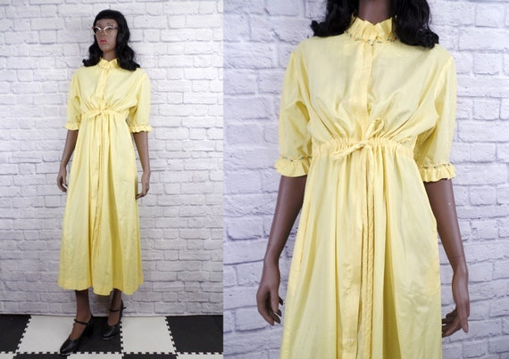 Vintage 1960s Loungees House Coat Loungewear - Med