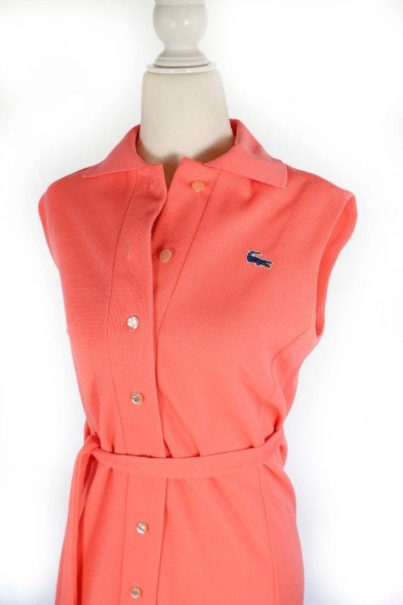 Vintage 1960s Pink LACOSTE Polo Sportswear Dress - image 3