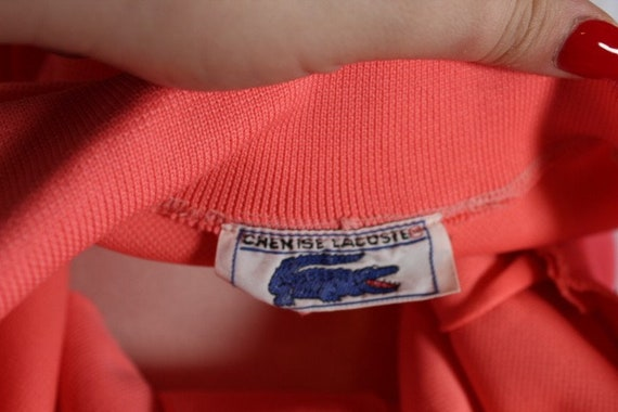 Vintage 1960s Pink LACOSTE Polo Sportswear Dress - image 7