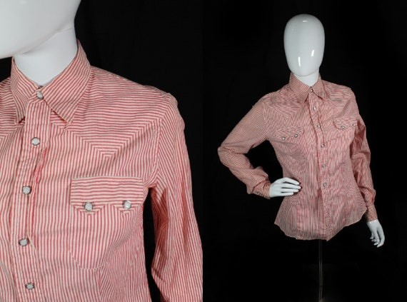 Vintage 1950s Red & White Striped Women's Western