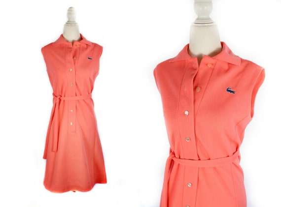 Vintage 1960s Pink LACOSTE Polo Sportswear Dress