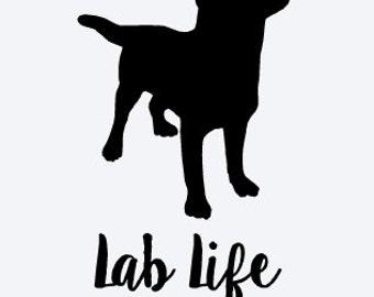 Lab Life Vinyl Decal