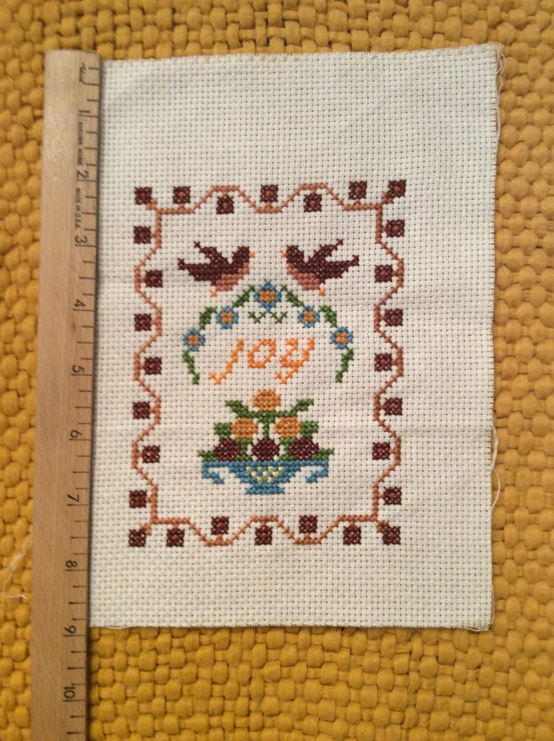 JOY EMBROIDERY Unframed 7x9 Ready for Framing or Other Projects Ships FREE