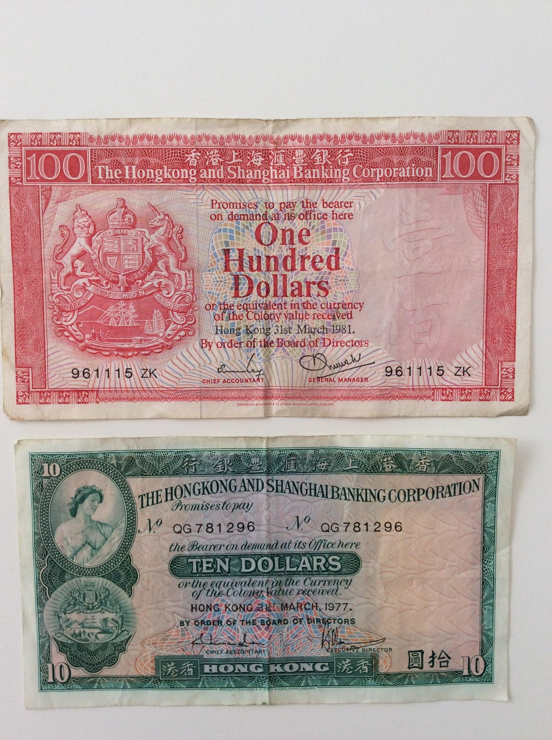 COLECCIÓN HONG KONG dólares moneda billetes moneda de curso