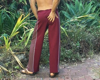 ON SALE! Men's ecstatic dance pants – red stripe