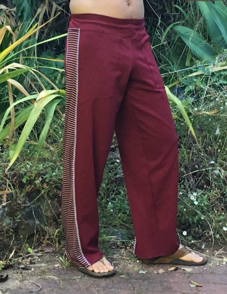 ON SALE Mens ecstatic dance pants  red stripe image 0