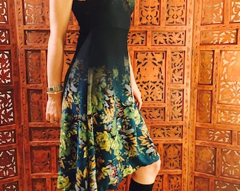 Sweetheart dress - floral fade