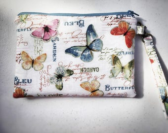 Butterfly Wristlet/ cellphone holder with strap