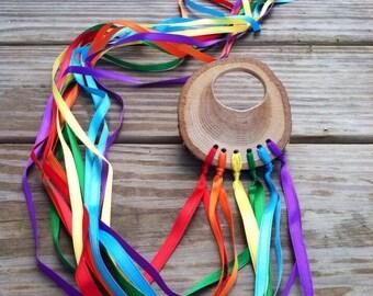 Rainbow fairy streamer kite