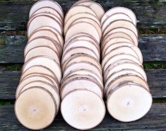 "50 Maple wood slices 2.5"" - 3.25"""