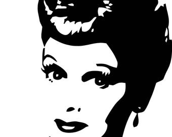 """Lucy Style 2 Wall Decal Sticker for Home Decor 23"""" x 28"""""""