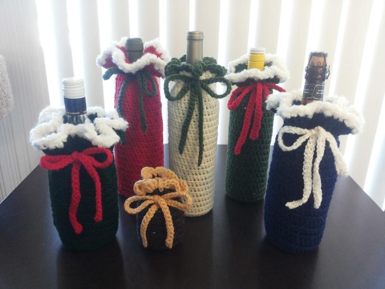 Holiday Handmade Crochet Bottle Cover