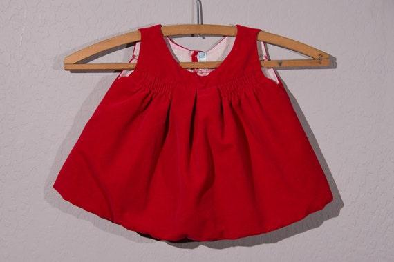 fe9a079d5 9Mo: Vintage Baby Dress Vintage Red Velvet Baby Dress | Etsy