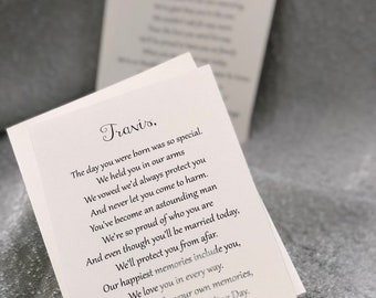 e4bb21d7 Letters to the Bride and Groom / On Your Wedding Day / Son and Daughter in  law / Wedding / Wedding Gift
